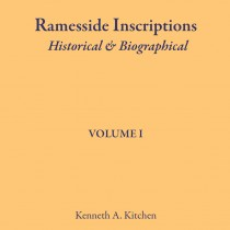 Ramesside Inscriptions. Historical & Biographical