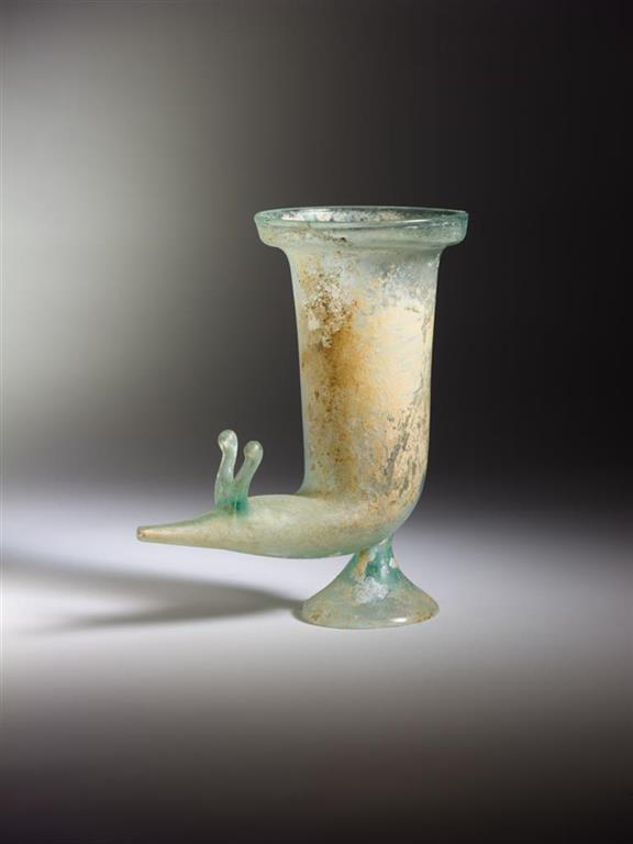 Zoomorphic rhyton, second half of 1st c. CE. Eretz Israel Museum.