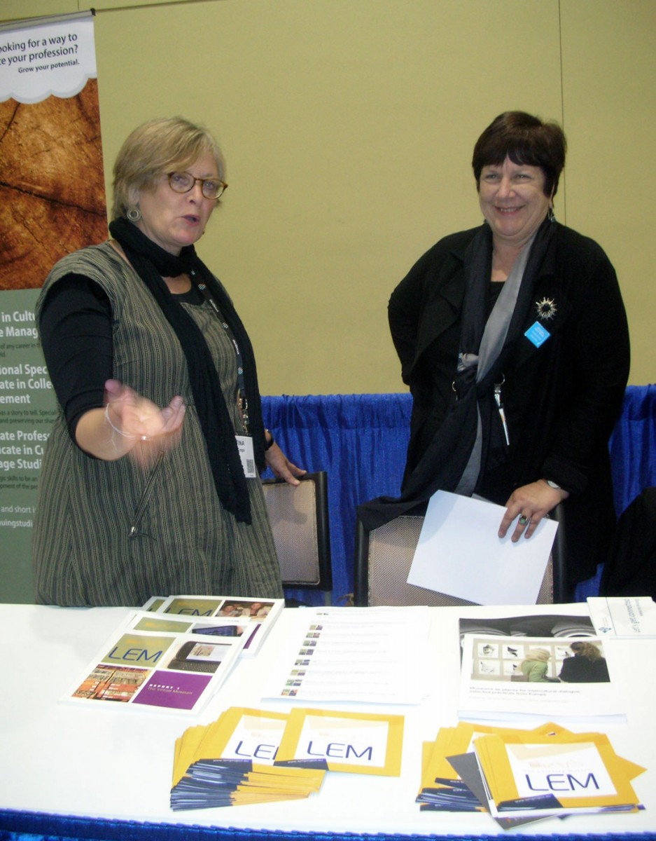 Fig. 2. Information Point for the LEM programme at the annual meeting of the American Association of Museums/American Alliance of Museums and at the session Marketplace of Ideas, Seattle, USA, 18-21 May 2014. Source: IBACN.