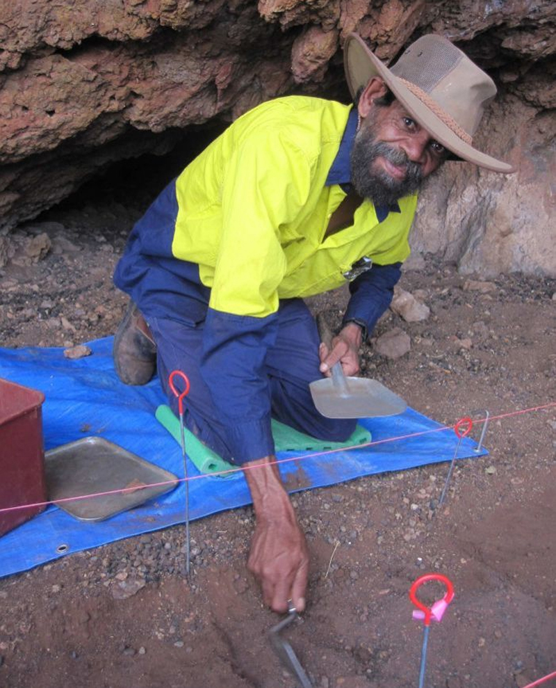 Samples for radiocarbon dating were collected by Wajarri Traditional Owners and archaeologists from UWA during an excavation at a Weld Range Aboriginal site 50 kilometres northwest of Cue township in May last year.