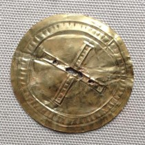 Gold sun disc from the time of Stonehenge revealed to the public