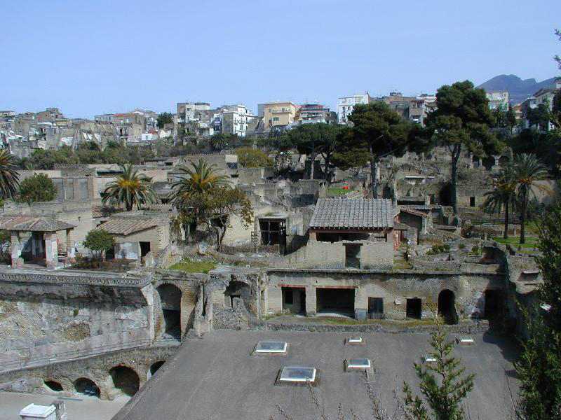 Panorama of the excavations at Herculaneum.