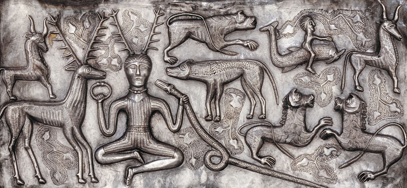 Gundestrup Cauldron, Silver - Gundestrup, northern Denmark, 100 BC–AD 1 © The National Museum of Denmark.