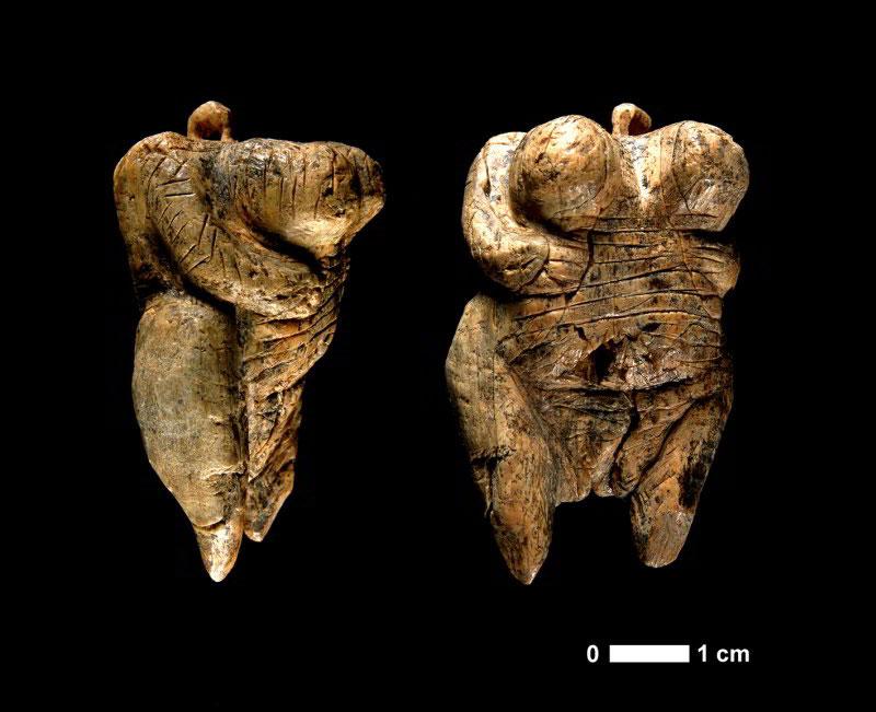 "The original ""Venus from Hohle Fels""discovered in 2008. Photo Credit: H. Jensen/University of Tübingen."