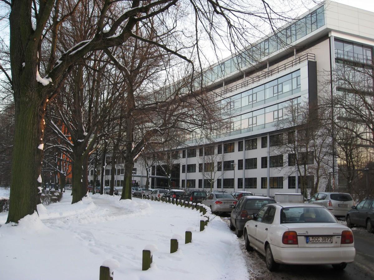 Max Planck Institute for Evolutionary Anthropology. Leipzig MPI-EVA.JPG. Street view of the Institute.