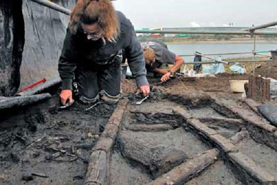 The extraordinarily well pereserved timber was found in 2006. Photo Credit: Cambridge Archaeological Unit.