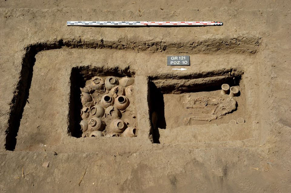 One of the graves at Western Kom. Photo Credit: Ministry of Antiquites, Egypt.
