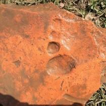 Footprint on Roman tile found at Vindolanda