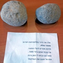 Sling stones returned to Israel