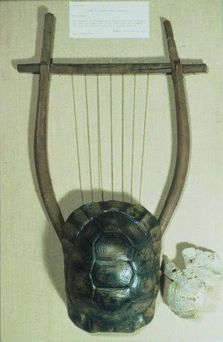 Restored lyre, 5th or 4th c. BC. Elgin Collection, British Museum.