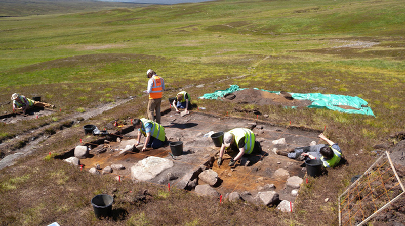 Archaeologists working at Glen Geldie. Image: The National Trust for Scotland.