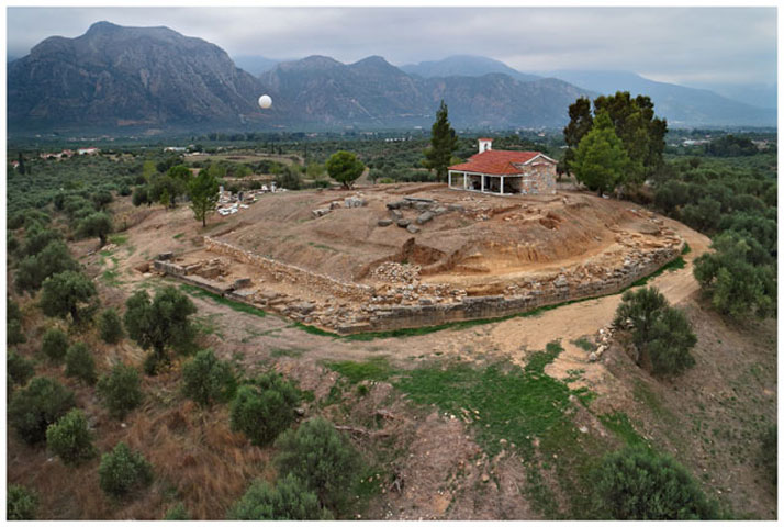 Fig. 7. View of the excavation at the Sanctuary of Apollo Amyklaios.
