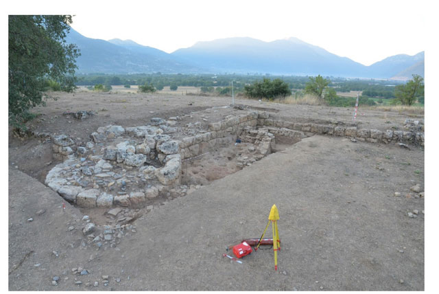 Tower Π4 of the fortification wall in Ancient Feneos.  Credit: Hellenic Ministry of Culture, Education and Religious Affairs.