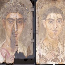 Rare Use of Blue Pigment Found in Ancient Mummy Portraits
