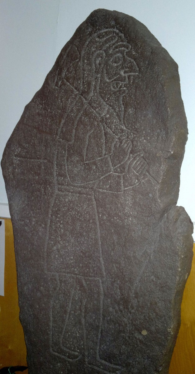 The carved Pictish stone called