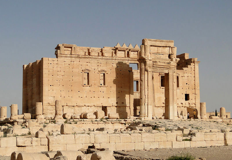The Temple of Bel was considered the most well preserved monument at Palmyra. Photo Credit: Bernard Gagnon, Wikimedia Commons.