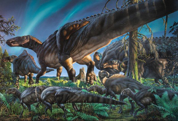 An artist's depiction of what researchers believe the dinosaur looked like. Credit: James Havens.
