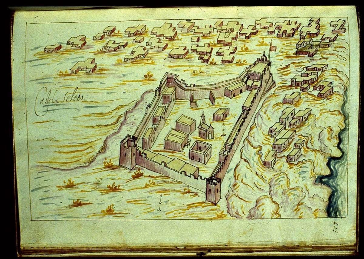 Fig.10. The Castel Selino in Palaiochora, Selino (R.F. Monani, 1612).