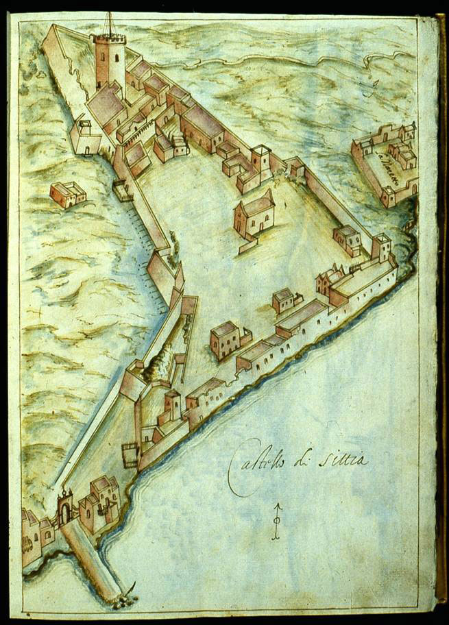 Fig.21. The fortified city of Sitia (R.F. Monani, 1612).