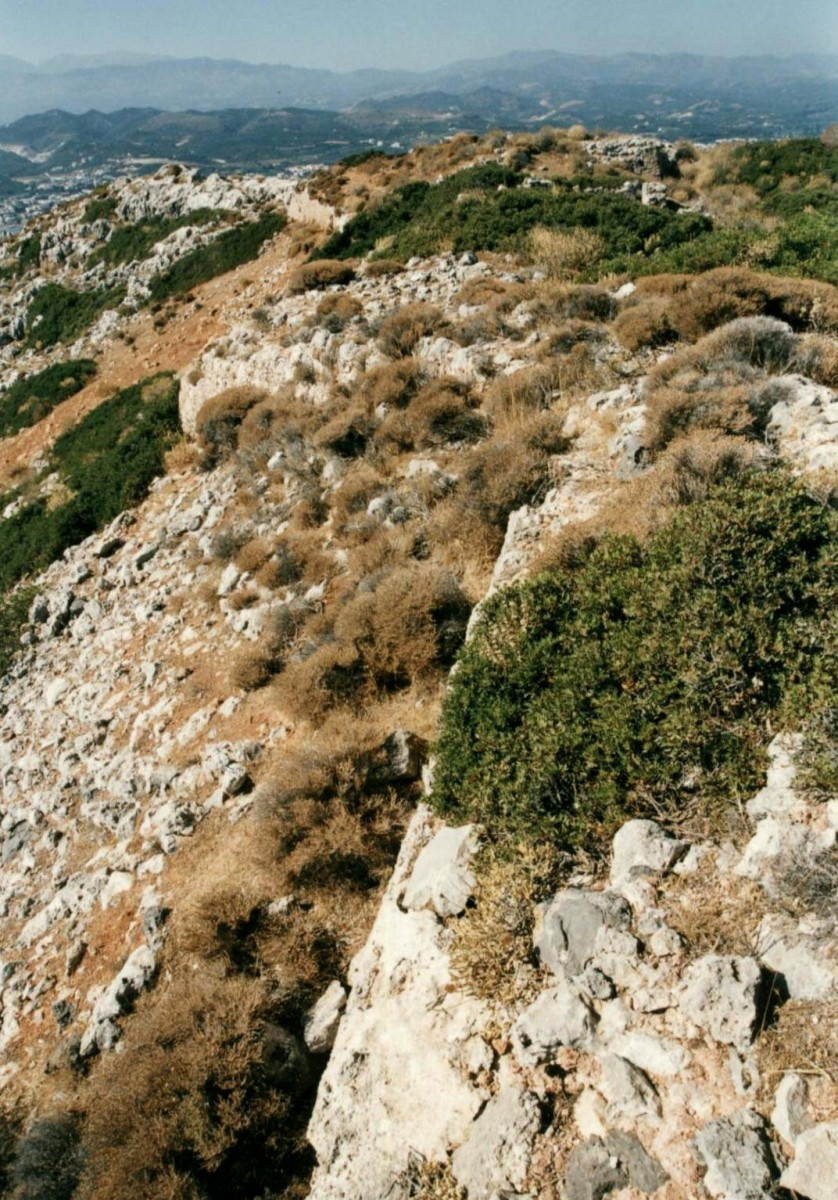 Fig. 25. The islet of Aghioi Theodoroi (Todorou ), the upper fort (Turluru).
