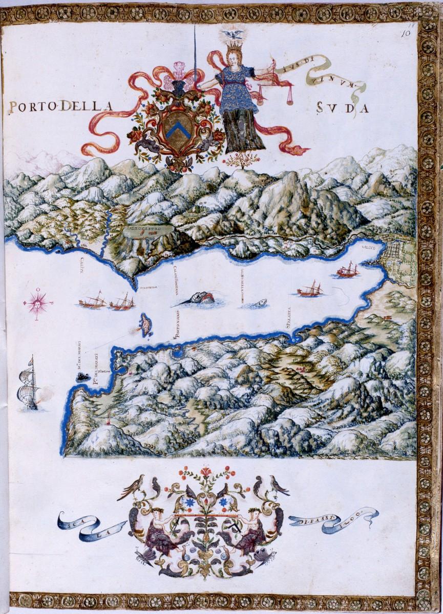 Fig. 26. The Bay of Souda (G. Corer 1625).