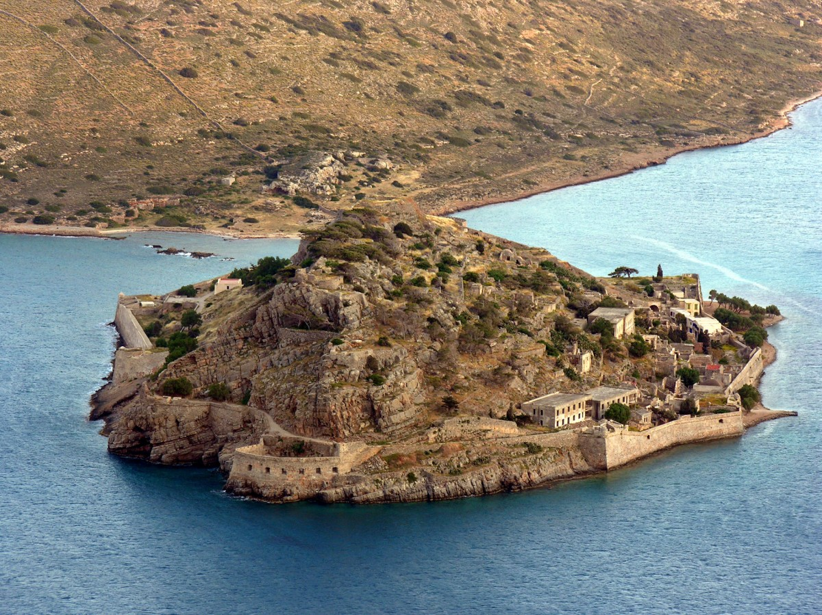 Fig. 28.The fortified islet of Spinalonga from the Northwest.