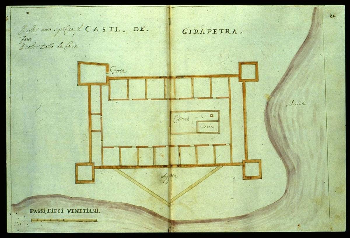 Fig.6. The Cale fort in Ierapetra (R.F. Monani, 1612).