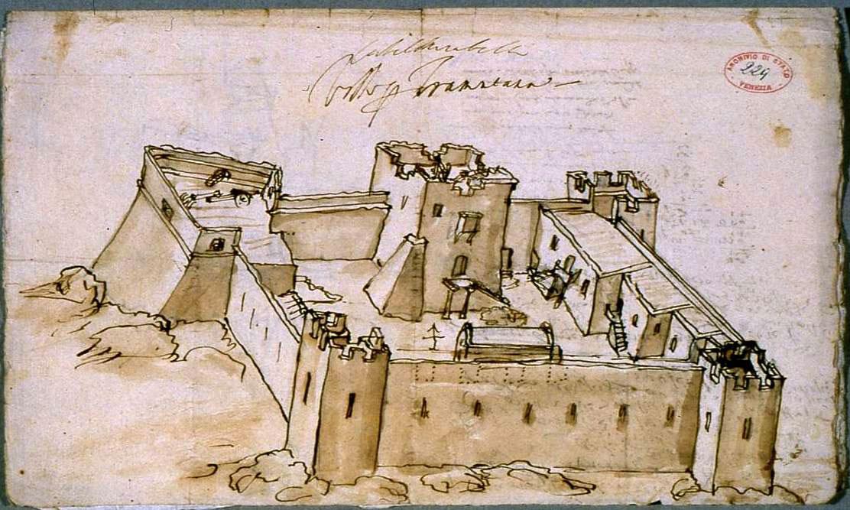 Fig.7. Τhe Castel Mirabelo in Aghios Nikolaos in Lasithi (R.F. Monani, 1612).
