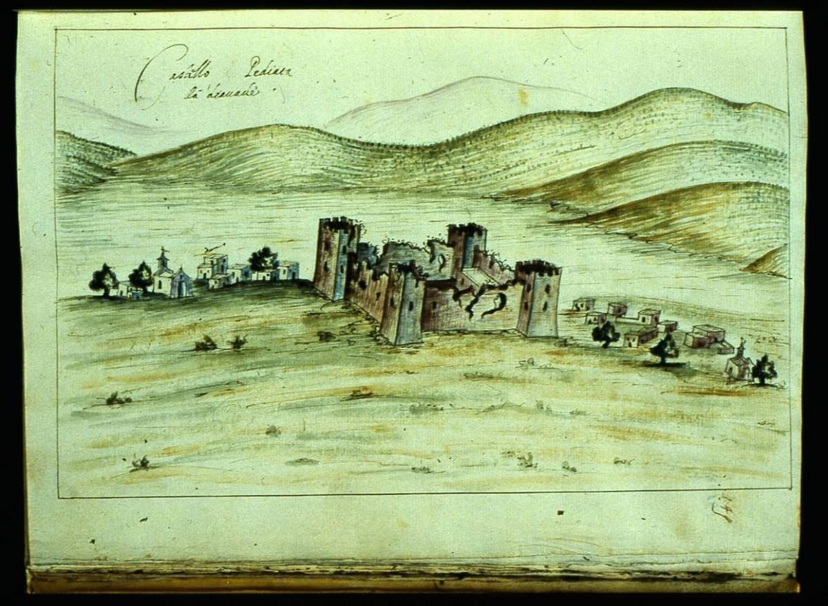 Fig.8. Τhe Castel Pediada and the Castel Pediada settlement in Heraklion (R.F. Monani, 1612).