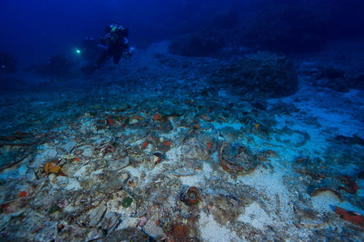 General view of the Antikythera Shipwreck site. (Photo: Ministry of Culture and Sports)