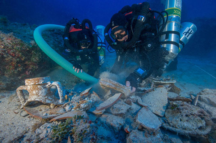 Antikythera: Snapshot of the excavation (Photo: Ministry of Culture and Sports)