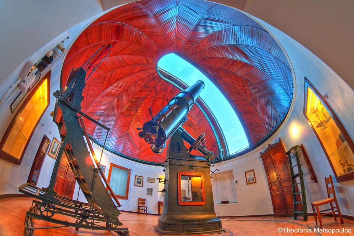 The Doridis telescope was built by the French company of P.F. Gautier in 1902