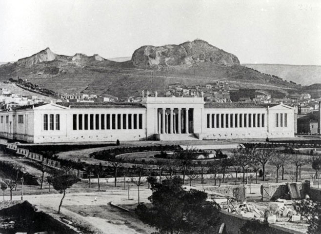 The National Archaeological Museum in Athens, soon after its completion in 1889 (NAM Photographic archive).