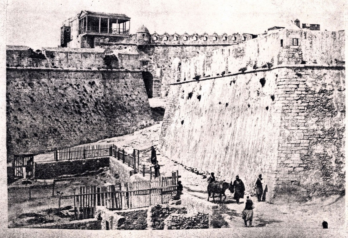Fig. 3. The pentagonal fort east of the Fortezza in Rethymnon, late 19th c.