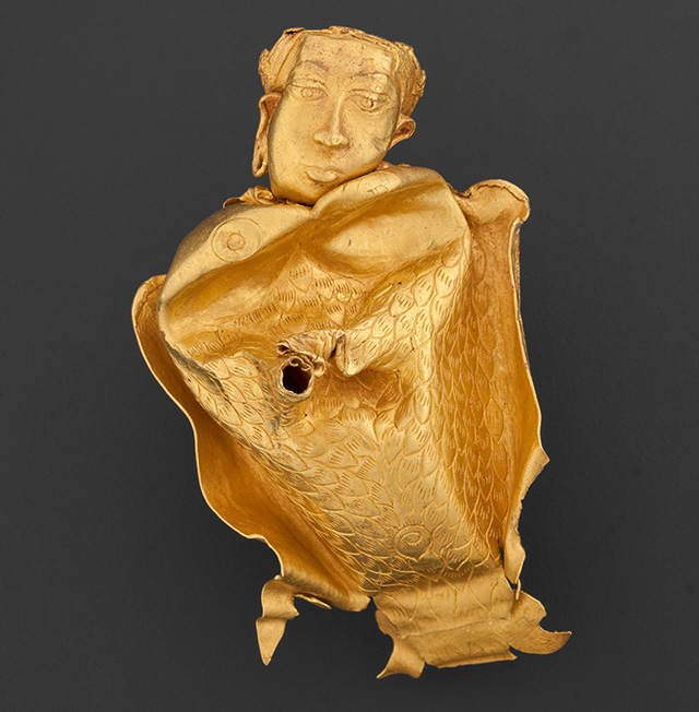 Gold vessel in the form of kinnari. Source: Asia Society .