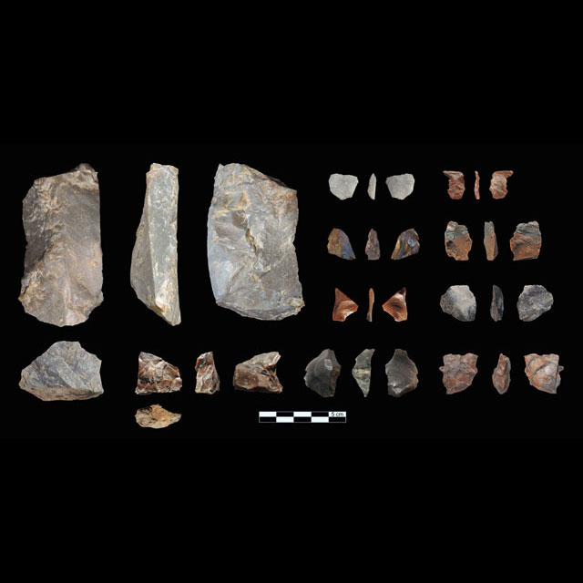 Marathousa 1: Stone tools (photo: Ministry of Culture, Education and Religious Affairs).