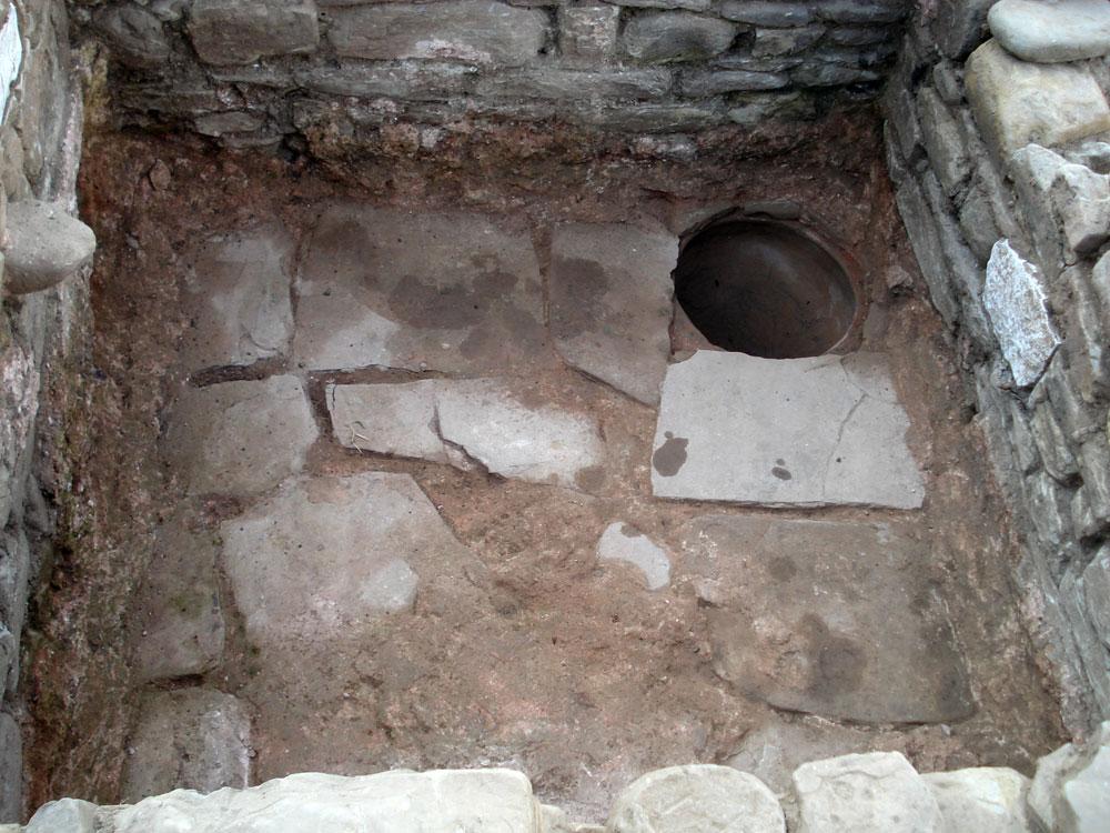 View of the wine press interior (photo: Ephorate of Antiquities of Arta).
