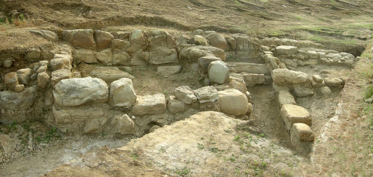 Complex of Farmstead B (photo: Ephorate of Antiquities of Arta).