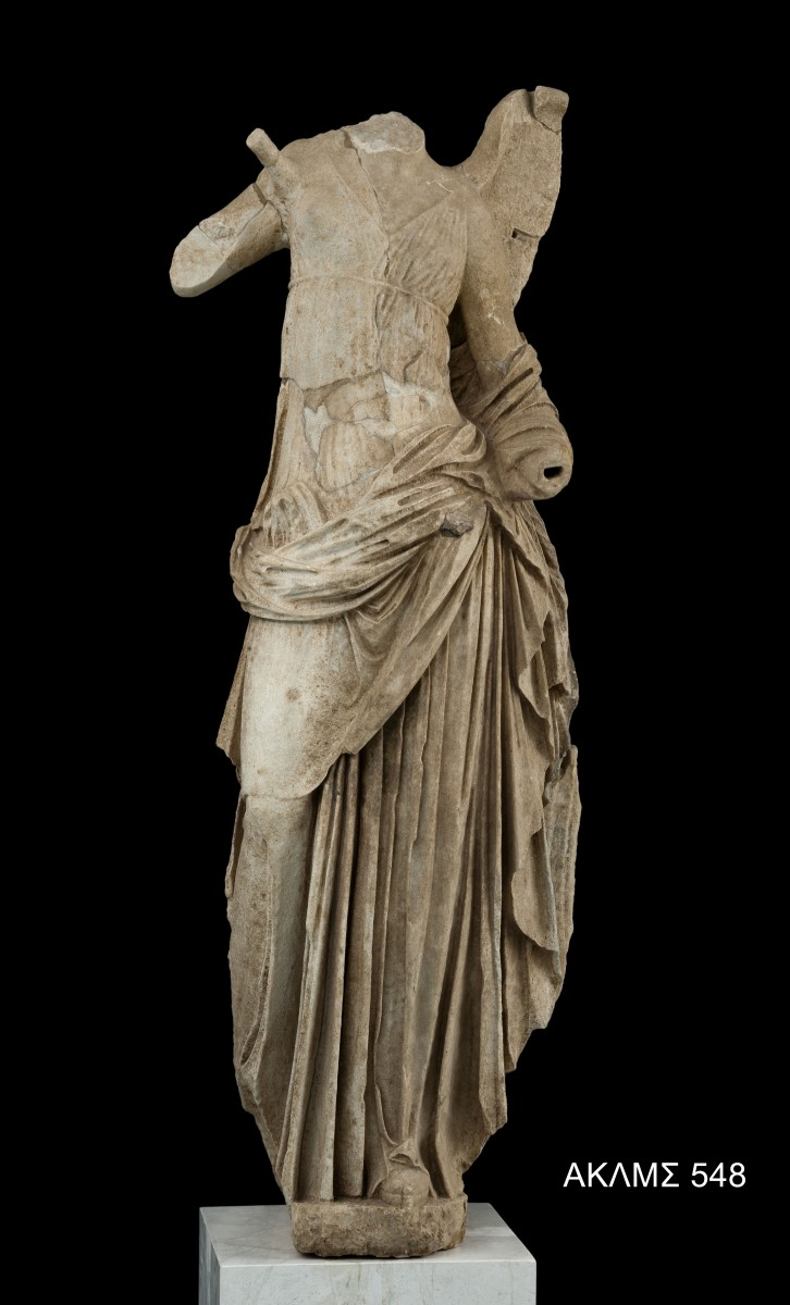 Nike statue, one of the four corner akroteria from the roof of the Hieron. 125 -100 BC. © Acropolis Museum. Photo Socrates Mavromatis.