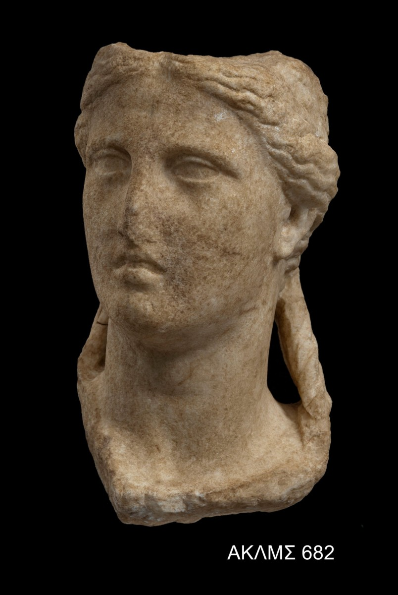 Female head, which probably depicts the Great Mother. 3rd - 1st cent. BC. © Acropolis Museum. Photo Socrates Mavromatis