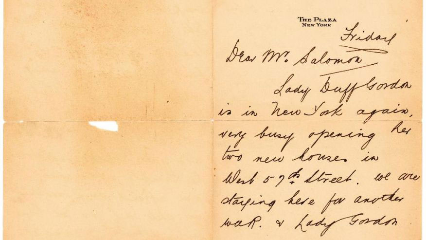 This undated photo provided by Lion Heart Autographs shows a letter by one of the survivors of the sinking of the Titanic written six months after the disaster. Photo Credit: Lion Heart Autographs via AP.
