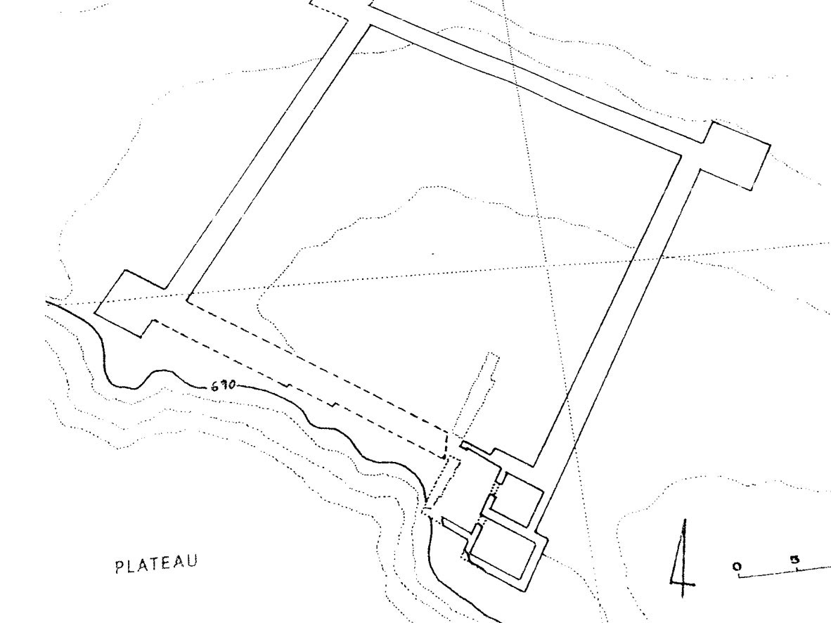 Fig. 12. Prinias: Hellenistic fortress with square towers.
