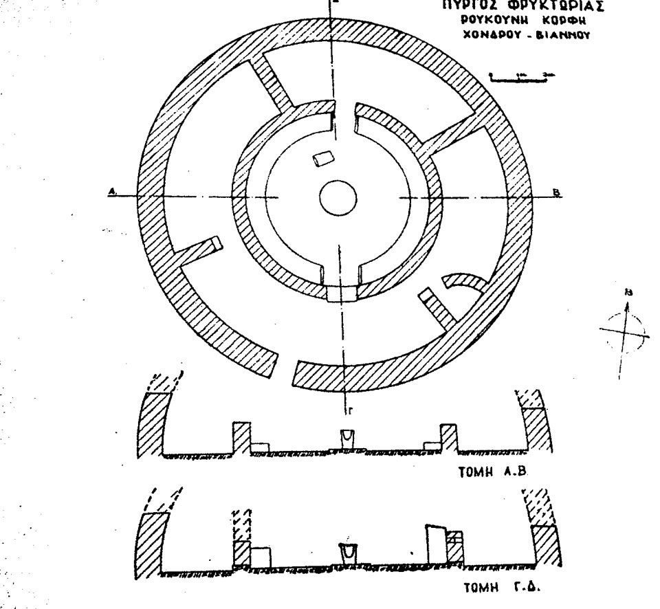 Fig. 13. Viannos; Hellenistic tower of a beacon.