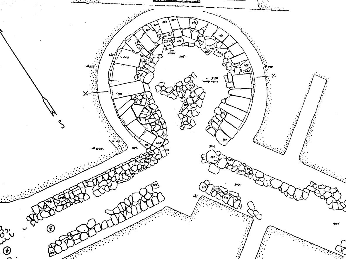 Fig. 9. Knossos: Hellenistic circular fortification tower.