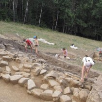 Archaeologists unearthed monumental stone structures in the Carpathians