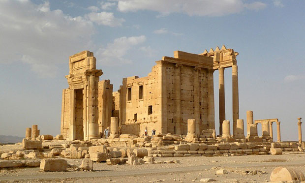 The Temple of Bel in the historical city of Palmyra, before its destruction by Isis. Photo Credit: Sandra Auger/Reuters.