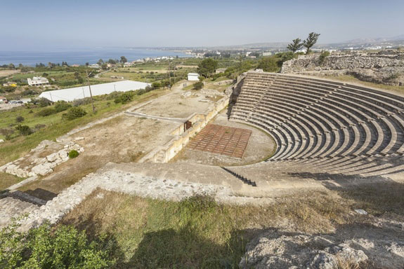 A theatre constructed in Soloi about 2,000 years ago. The tomb is located near the ancient city. Soloi had nearby copper mines as well as access to timber. Photo Credit: Live Science/Kadir Kaba.