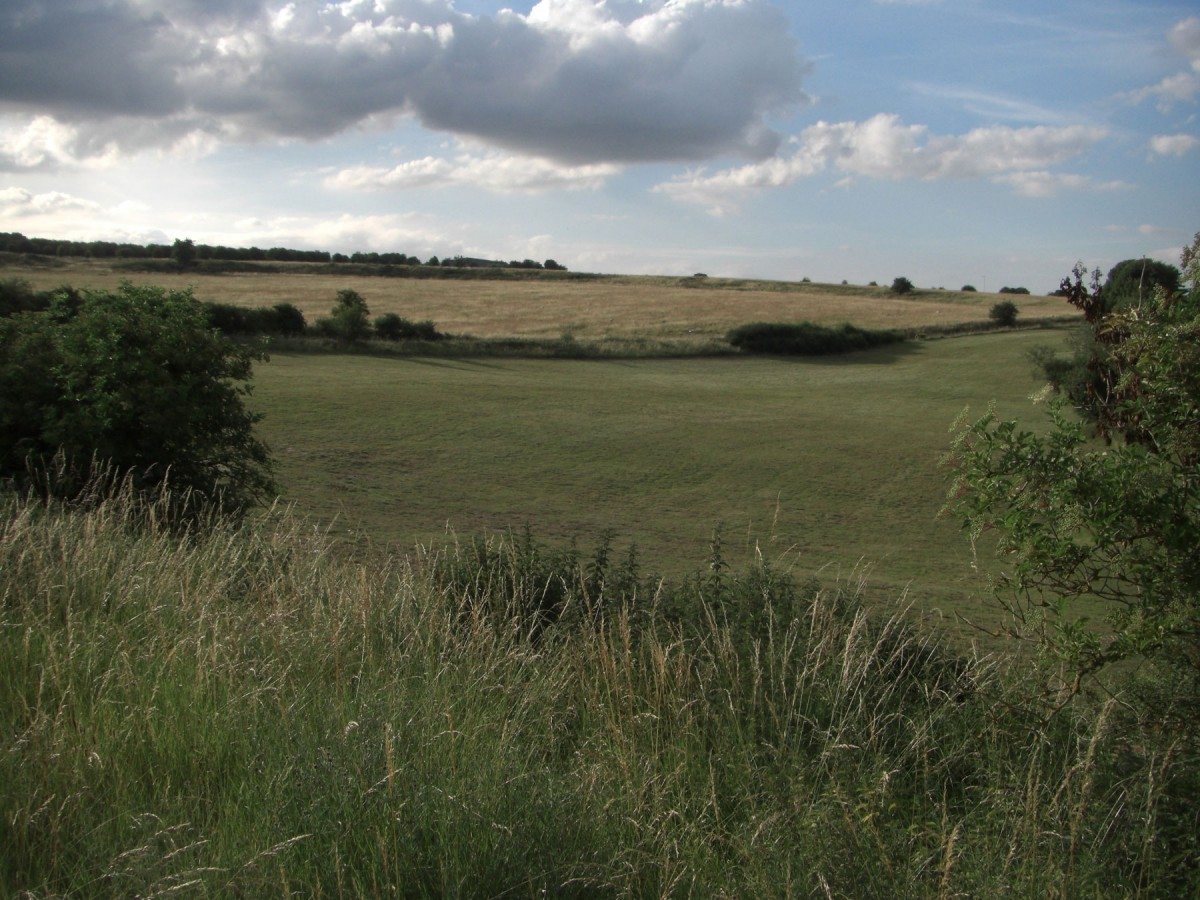 Durrington Walls, as seen from the south of the monument.