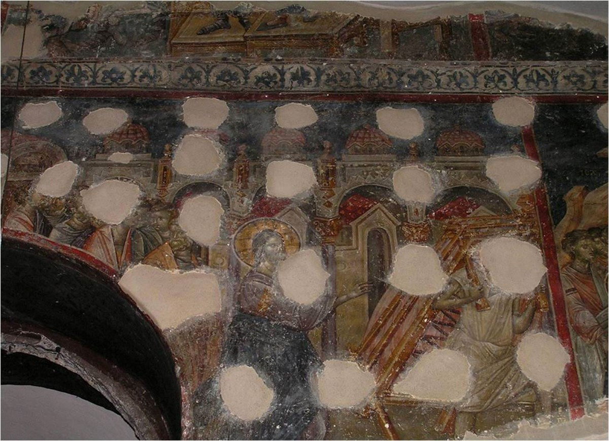 Fig. 7. The Church of Hagia Aikaterine. Depiction of five lanterns.