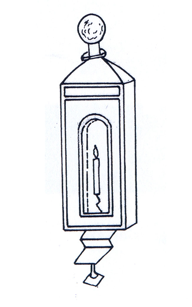 Fig. 9. The lantern in the mural according to first proposal.